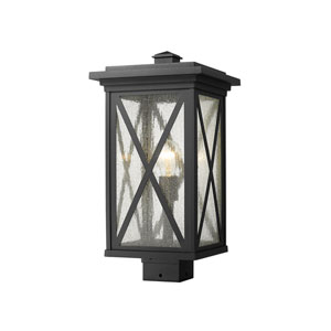 Brookside Black 19-Inch One-Light Outdoor Post Mount
