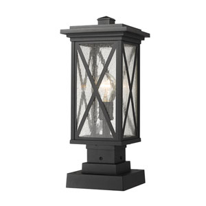 Brookside Black 18-Inch One-Light Outdoor Pier Mount
