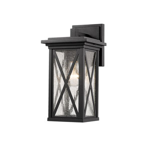 Brookside Black 6-Inch One-Light Outdoor Wall Sconce