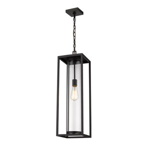 Dunbroch Black One-Light Outdoor Pendant