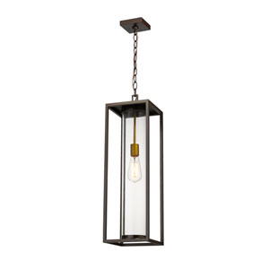 Dunbroch Deep Bronze and Brass One-Light Outdoor Pendant
