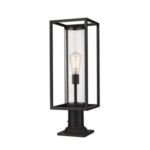 Dunbroch Black One-Light Outdoor Pier Mount