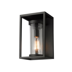 Dunbroch Black 13-Inch One-Light Outdoor Wall Sconce