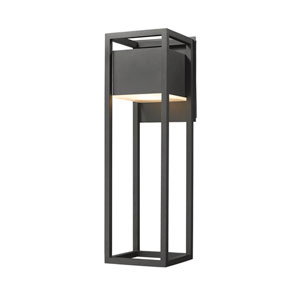 Barwick Black 8-Inch One-Light LED Outdoor Wall Sconce