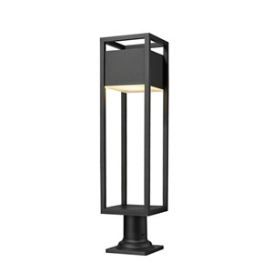 Barwick Black 29-Inch One-Light LED Outdoor Pier Mount