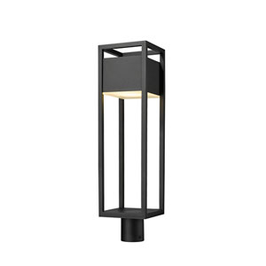 Barwick Black 27-Inch One-Light LED Outdoor Post Mount