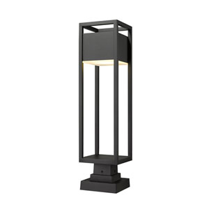 Barwick Black 28-Inch One-Light LED Outdoor Pier Mount