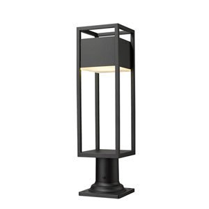 Barwick Black 23-Inch One-Light LED Outdoor Pier Mount