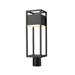 Barwick Black 21-Inch One-Light LED Outdoor Post Mount