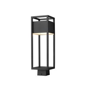 Barwick Black 20-Inch One-Light LED Outdoor Post Mount