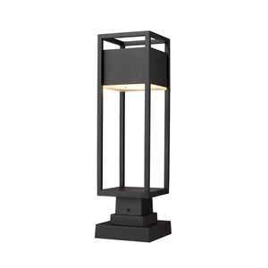 Barwick Black 22-Inch One-Light LED Outdoor Pier Mount