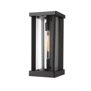 Glenwood Black 17-Inch One-Light Outdoor Wall Sconce