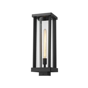 Glenwood Black One-Light Outdoor Post Mount