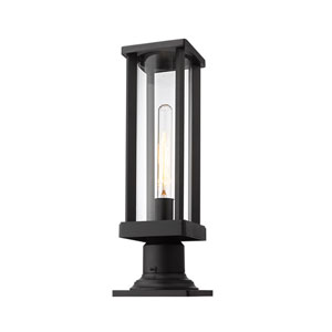 Glenwood Black One-Light Outdoor Pier Mount