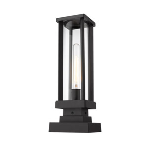 Glenwood Black 18-Inch One-Light Outdoor Pier Mount