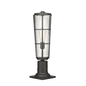 Helix Black 21-Inch One-Light Outdoor Pier Mount