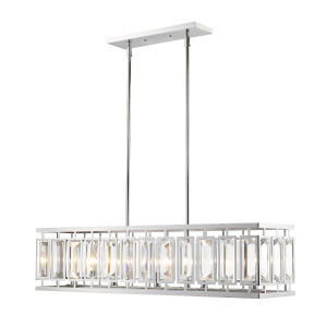 Mersesse Chrome Five-Light Island Pendant