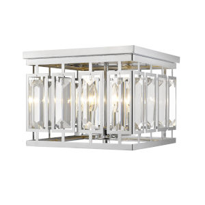 Mersesse Chrome Four-Light Flush Mount