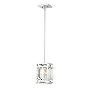 Mersesse Chrome One-Light Square Mini Pendant