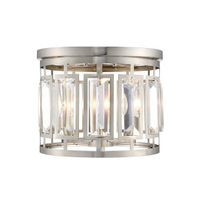 Mersesse Brushed Nickel Three-Light Flush Mount