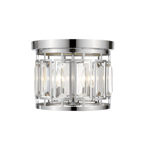 Mersesse Chrome Three-Light Flush Mount