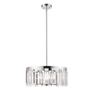 Cormac Chrome Six-Light Chandelier With Transparent Crystal