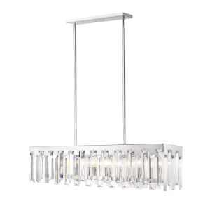 Cormac Chrome Seven-Light Chandelier With Transparent Crystal