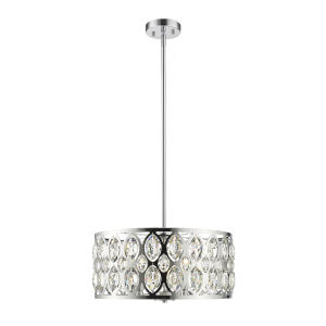 Dealey Chrome Five-Light Chandelier With Transparent Crystal