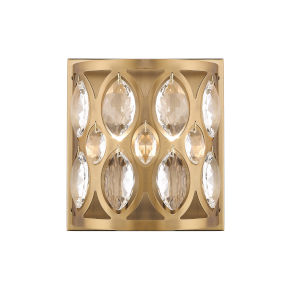 Dealey Heirloom Brass Two-Light Wall Sconce With Transparent Crystal