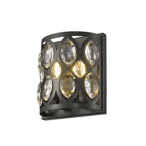 Dealey Matte Black Two-Light Wall Sconce