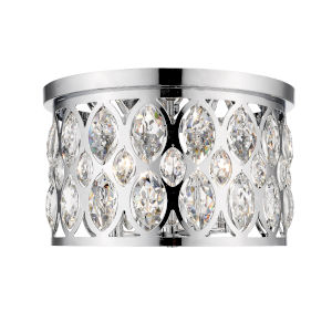 Dealey Chrome Four-Light Flush Mount With Transparent Crystal