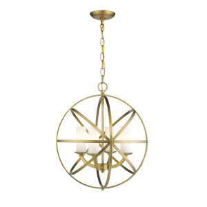 Aranya Heirloom Brass Four-Light Pendant