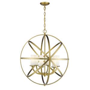 Aranya Heirloom Brass Six-Light Chandelier