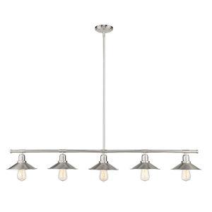 Casa Brushed Nickel Five-Light Mini Pendant