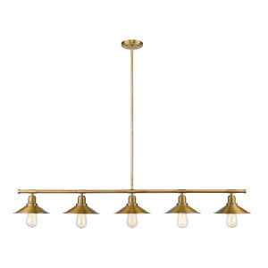Casa Factory Brass Five-Light Pendant