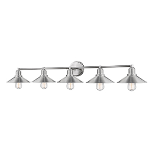 Casa Brushed Nickel Five-Light Bath Vanity