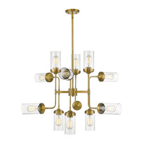 Calliope Foundry Brass 12-Light Chandelier