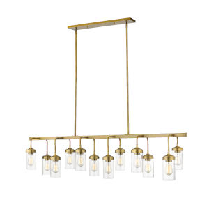 Calliope Foundry Brass 12-Light Island Pendant