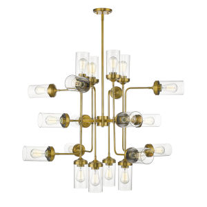 Calliope Foundry Brass 20-Light Chandelier
