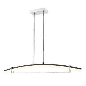 Arc Chrome LED One-Light Chandelier