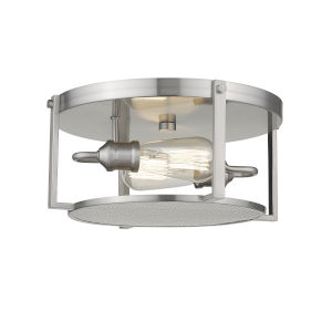 Halycon Brushed Nickel Two-Light Flush Mount