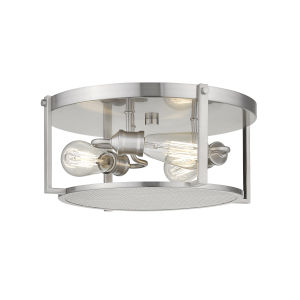 Halycon Brushed Nickel Three-Light Flush Mount
