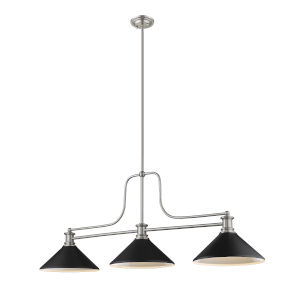 Melange Brushed Nickel Three-Light Pendant
