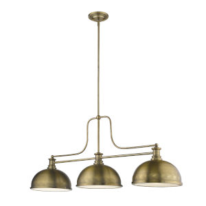 Melange Heritage Brass Three-Light Pendant