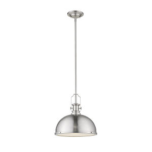 Melange Brushed Nickel One-Light Pendant