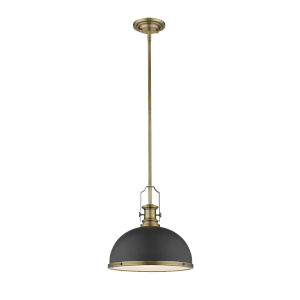 Melange Bronze and Heritage Brass One-Light Pendant