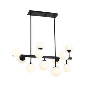 Midnetic Matte Black 11-Light Island Chandelier