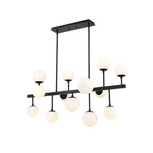 Midnetic Matte Black 13-Light Island Chandelier