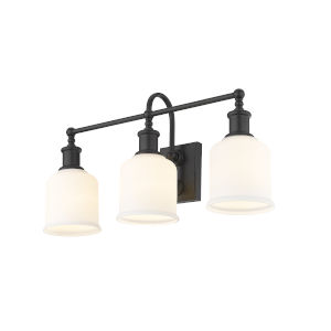 Bryant Matte Black Three-Light 24-Inch Bath Vanity