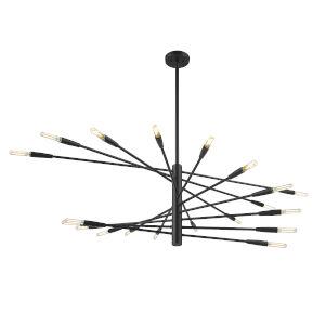 Ascension Matte Black 20-Light Chandelier